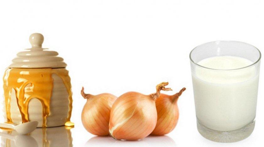 Молоко с луком и медом