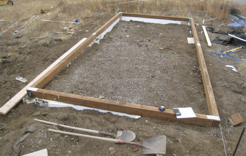 Фундамент из бруса для поликарбонатной теплицы