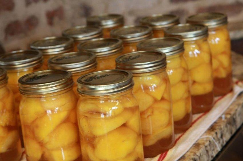 Хранение консервированного персика