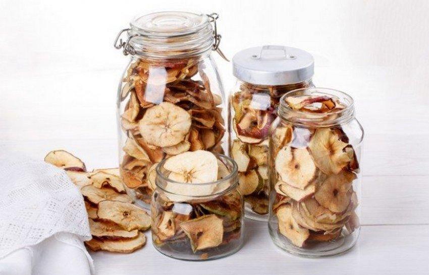 Хранение вяленых яблок