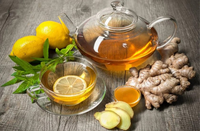 Имбирный чай с мёдом и лимоном