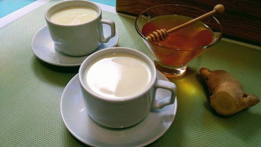 Имбирь, молоко и мёд от кашля