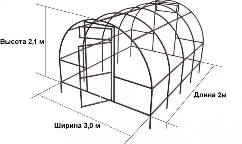 Схема теплицы Орион