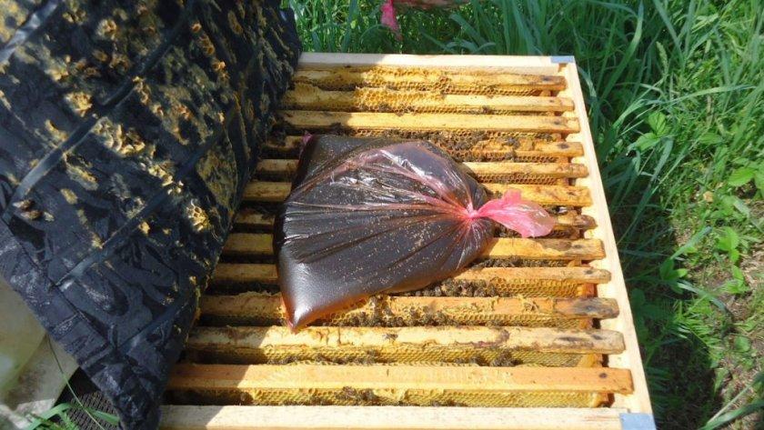 Подкормка пчёл от варроатоза