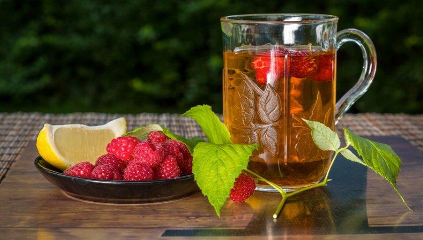 Чай с малины