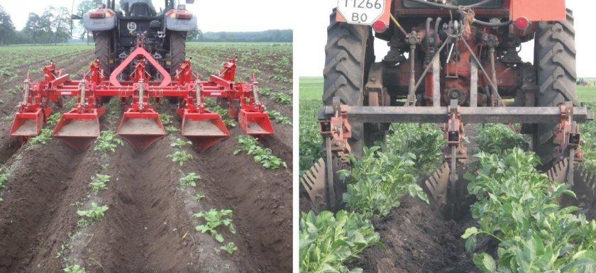 Окучивание картофеля тракторами