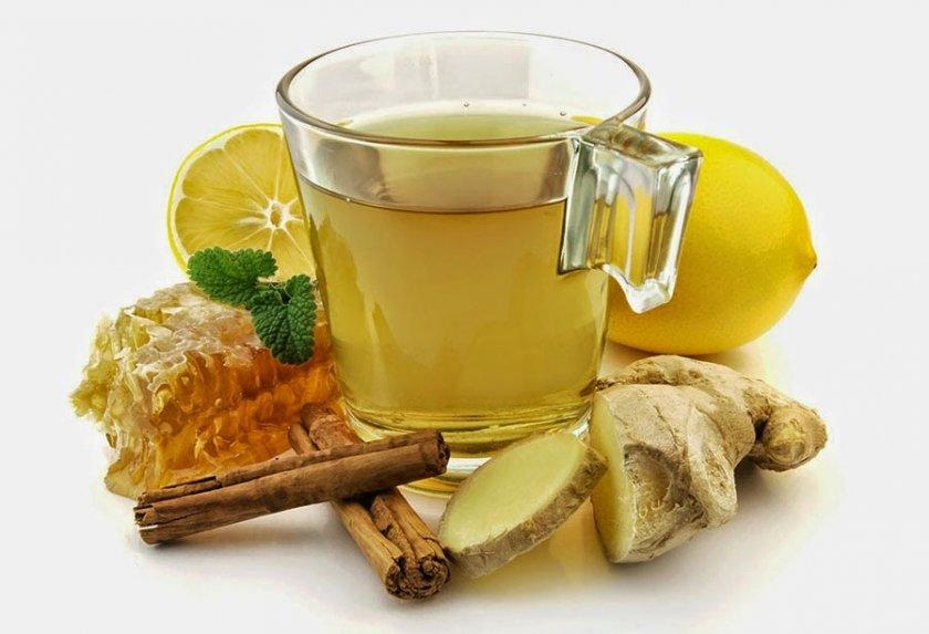 Чай с имбирем и добавлением корицы