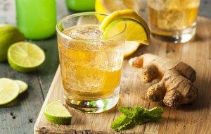 Как сделать воду с лимоном и имбирем