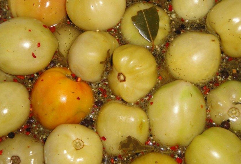 Засолка бурых помидоров