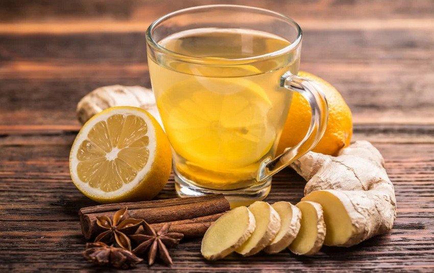 Имбирный чай со специями и лимоном