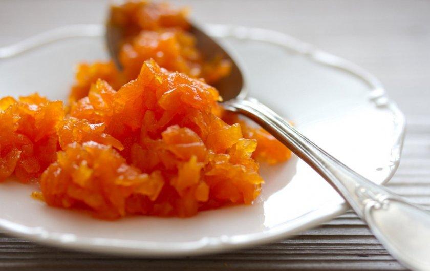 мармелад из моркови в домашних