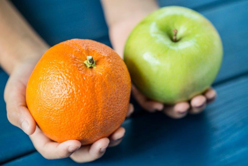 Апельсин и яблоко для варенья
