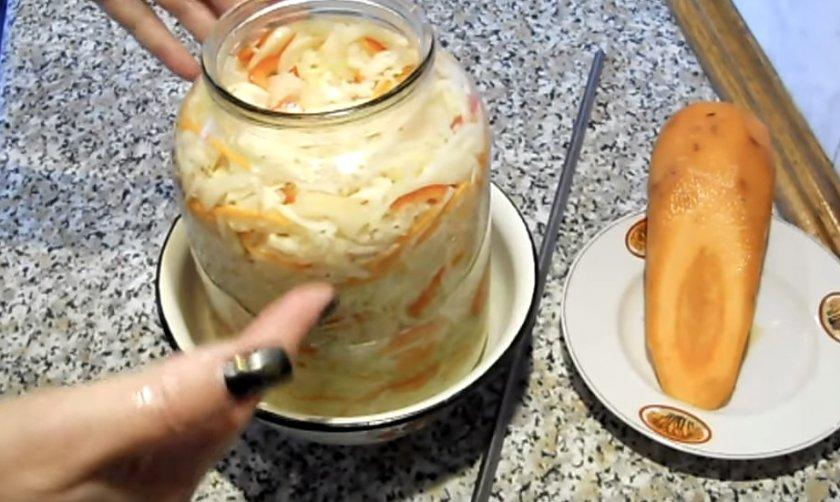 Рецепт квашеной капусты с болгарским перцем в банках, фото