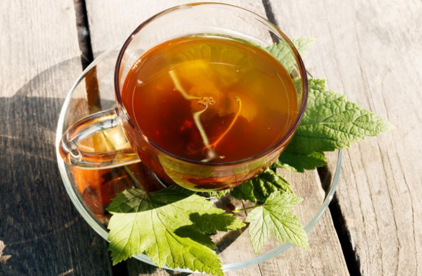 Чай из листьев и веток малины