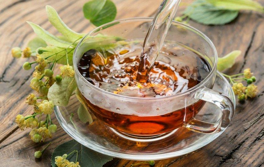Чай из листьев малины и липы