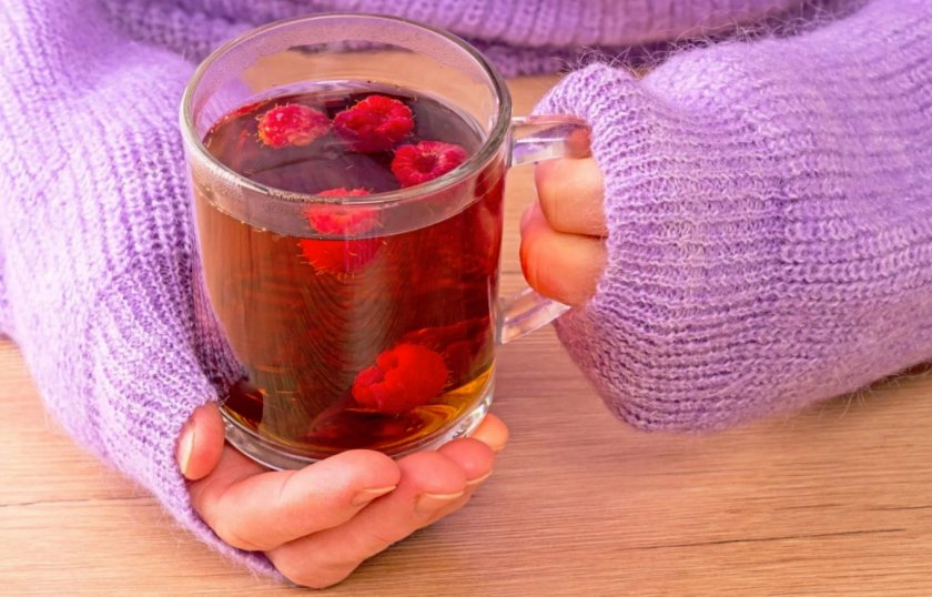 Малиновый чай употребление