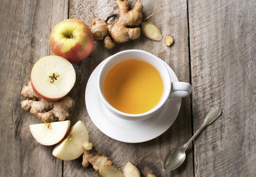 Имбирный напиток с яблоками
