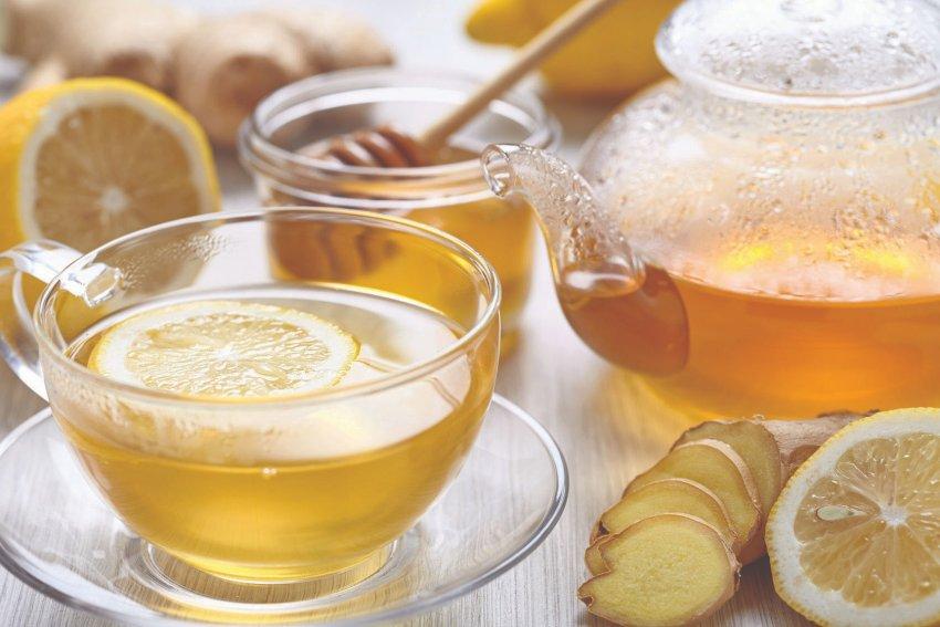 Чай имбирный с лимоном