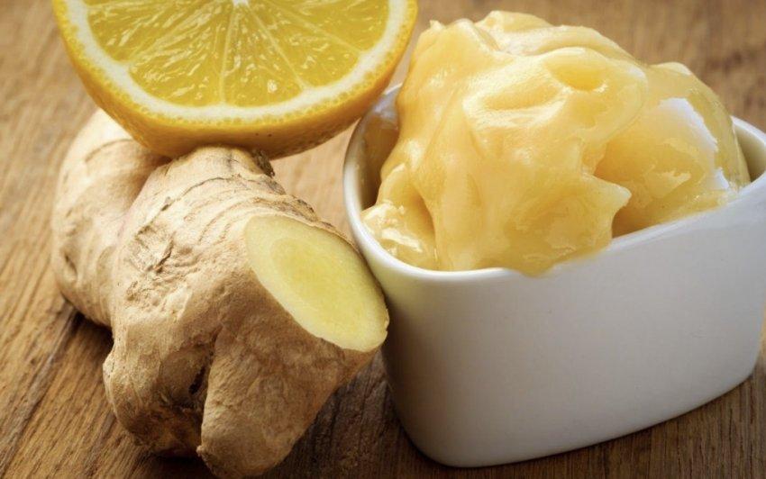 Имбирь, лимон и мёд для смеси