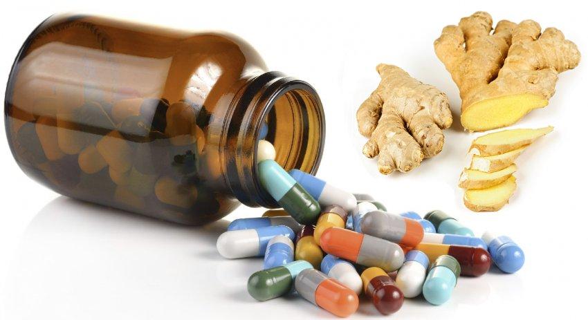 Сочетание имбиря с лекарствами