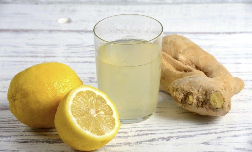 Имбирно-лимонная минеральная вода