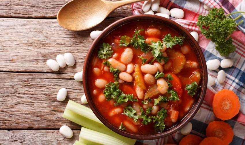 Суп из фасолью