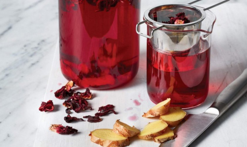 Напиток из суданской розы и имбиря