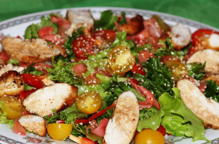 Салат с имбирем