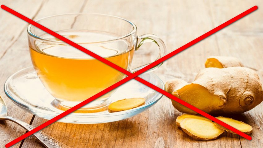 Противопоказания к употреблению чая с имбирем и лимоном
