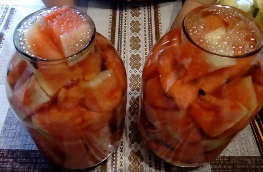 Арбузы с ацетилкой на зиму