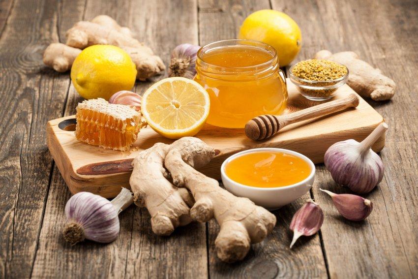 Мёд, чеснок и имбирь для повышения иммунитета