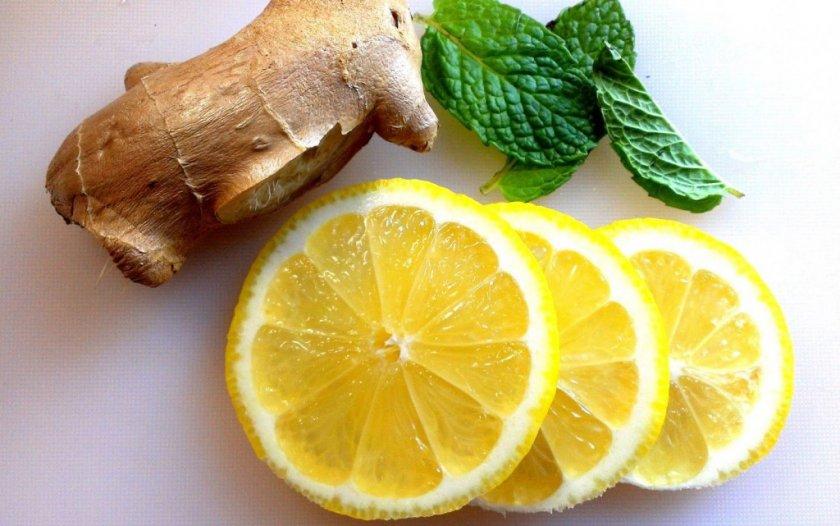 имбирь с лимоном для похудения живота