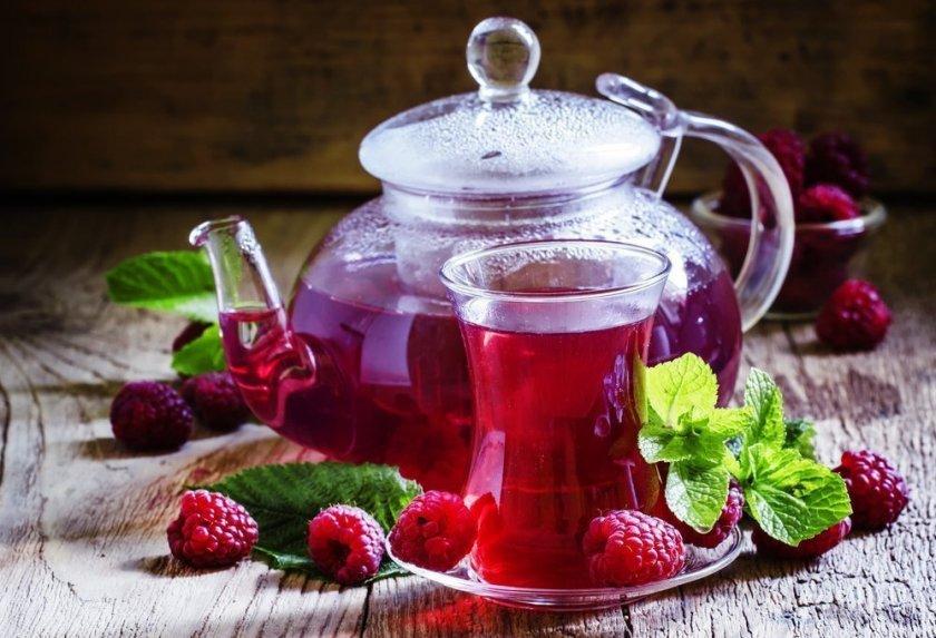 Чай из варенья малины