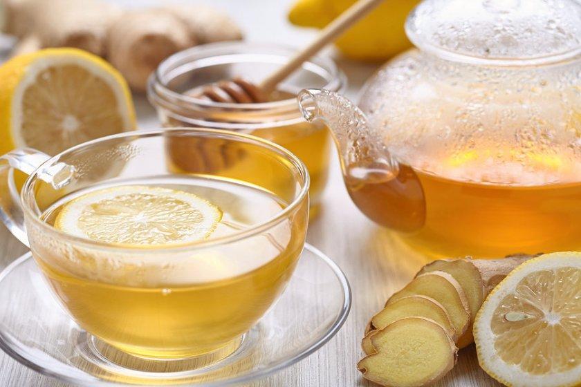 Имбирно-лимонный чай с мёдом