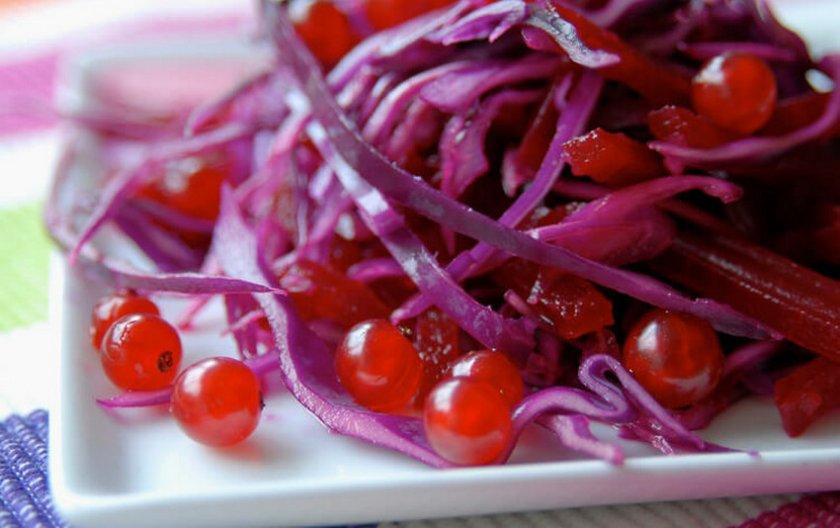 засолка красной капусты