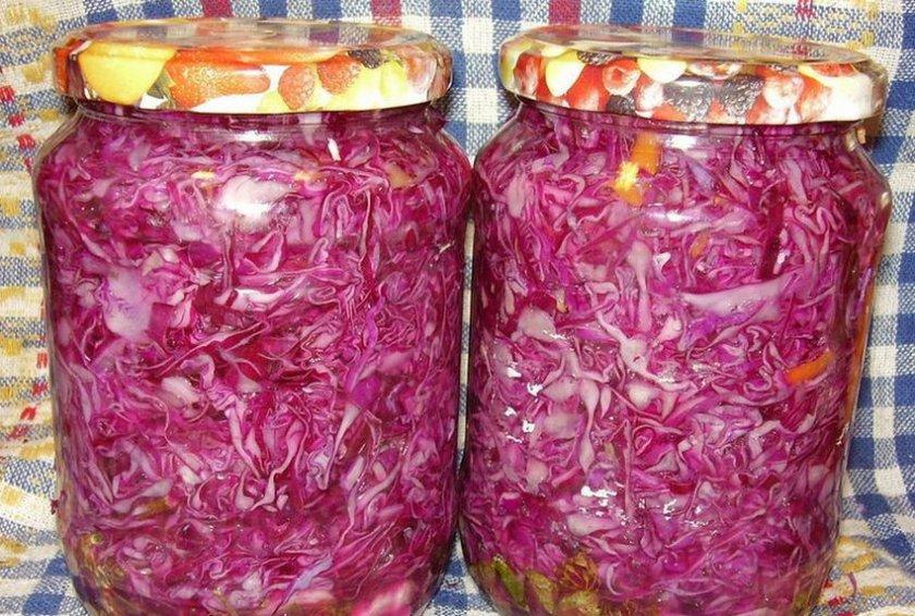 как посолить на зиму красную капусту