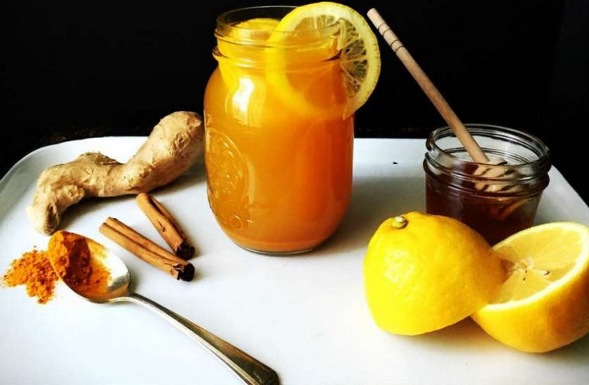 Куркума, имбирь, лимон и мёд для похудения