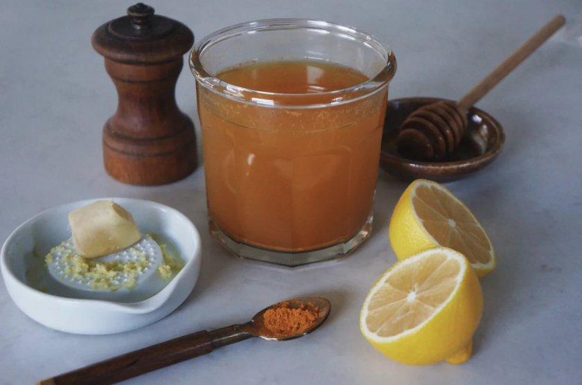 напиток для похудения с куркумой и медом