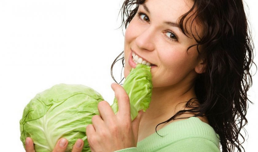Женщина с капустой