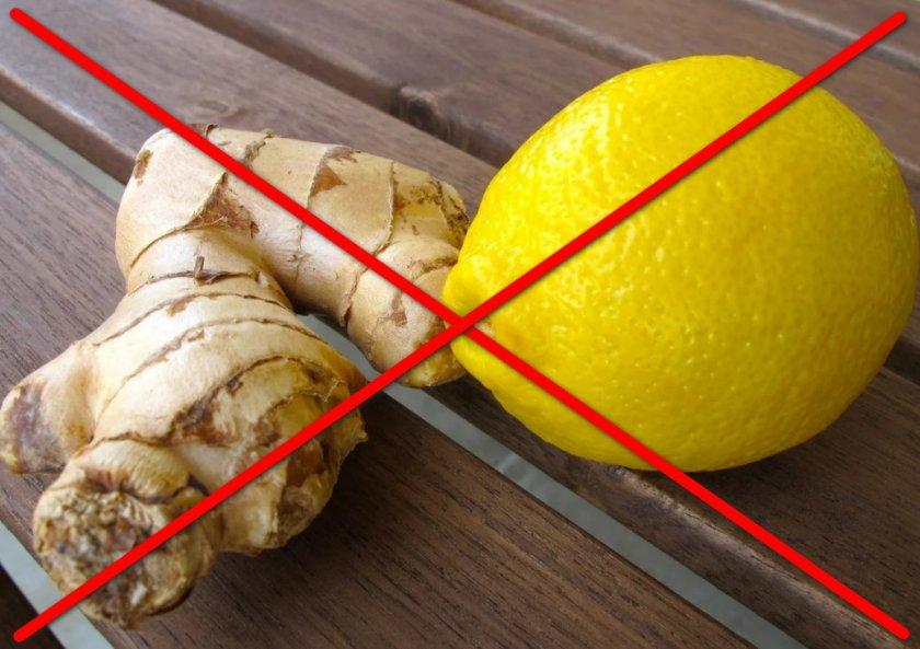 Противопоказания к применению имбиря с лимоном