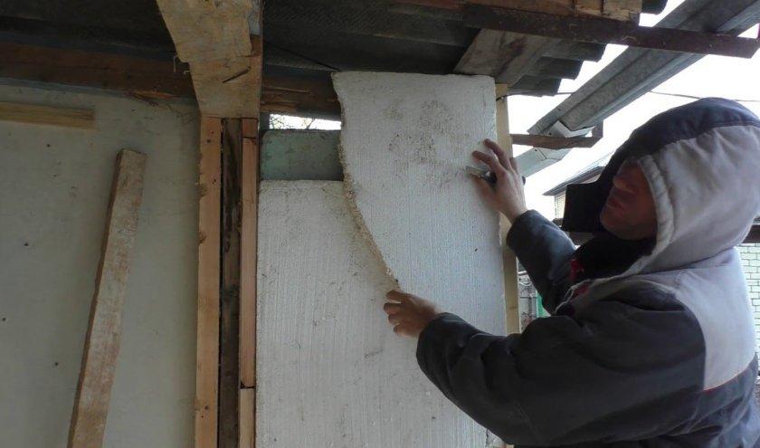 Теплоизоляция кассетного павильона для пчел