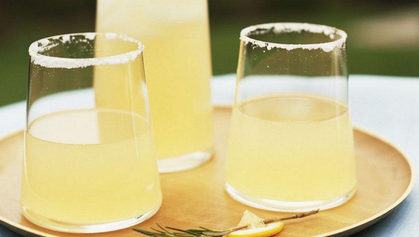 Настой из лимона, имбиря, мёда и мяты
