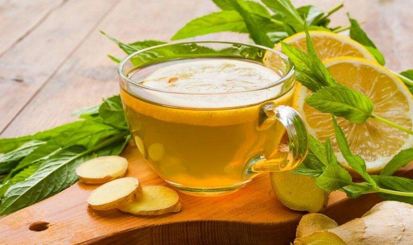 Имбирь с зелёным чаем