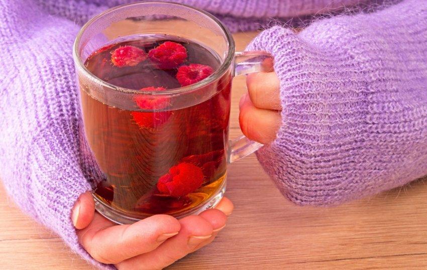 Употребление малины при простуде