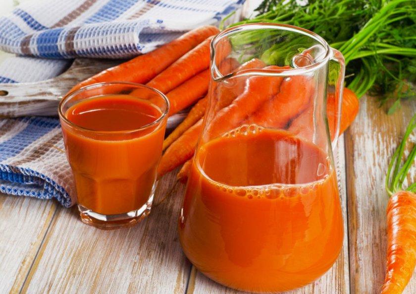 Морковный сок при геморрое