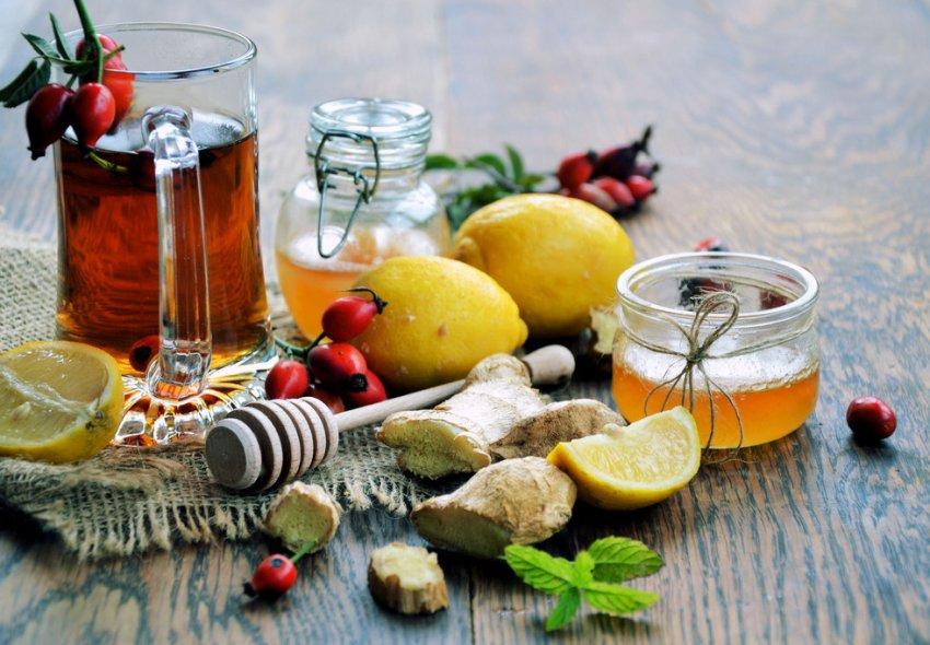Имбирный чай с шиповником