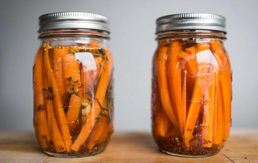 Маринованная морковь на зиму в банках рецепты без стерилизации фото