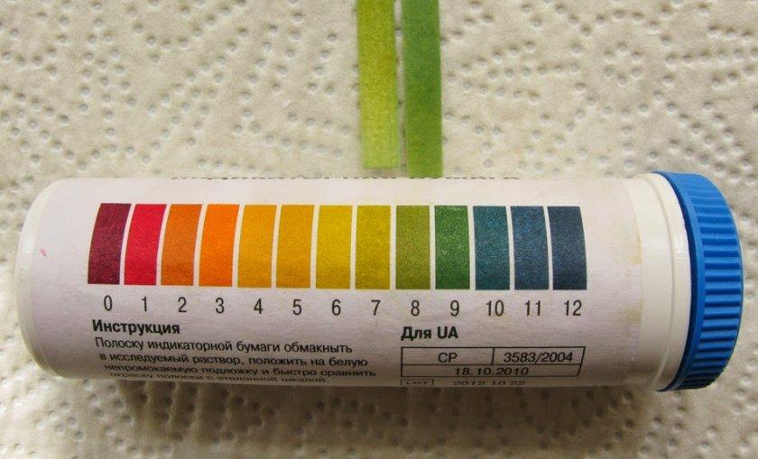 Лакмусовая бумага для выявление кислотности почвы
