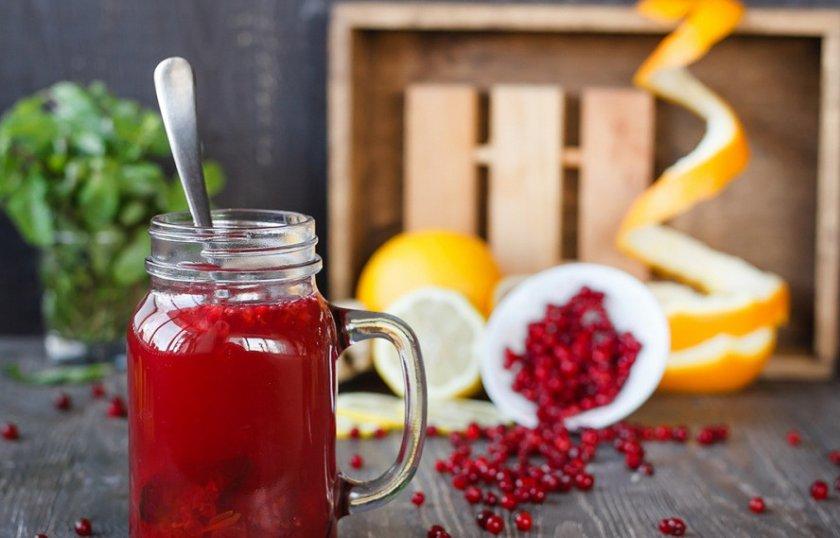 Брусничный чай при простуде