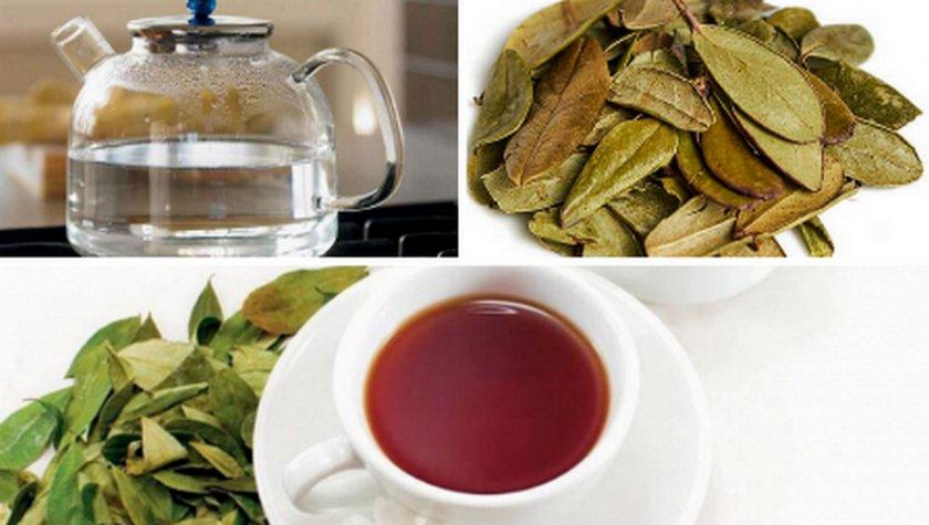 Чай с листьями брусники